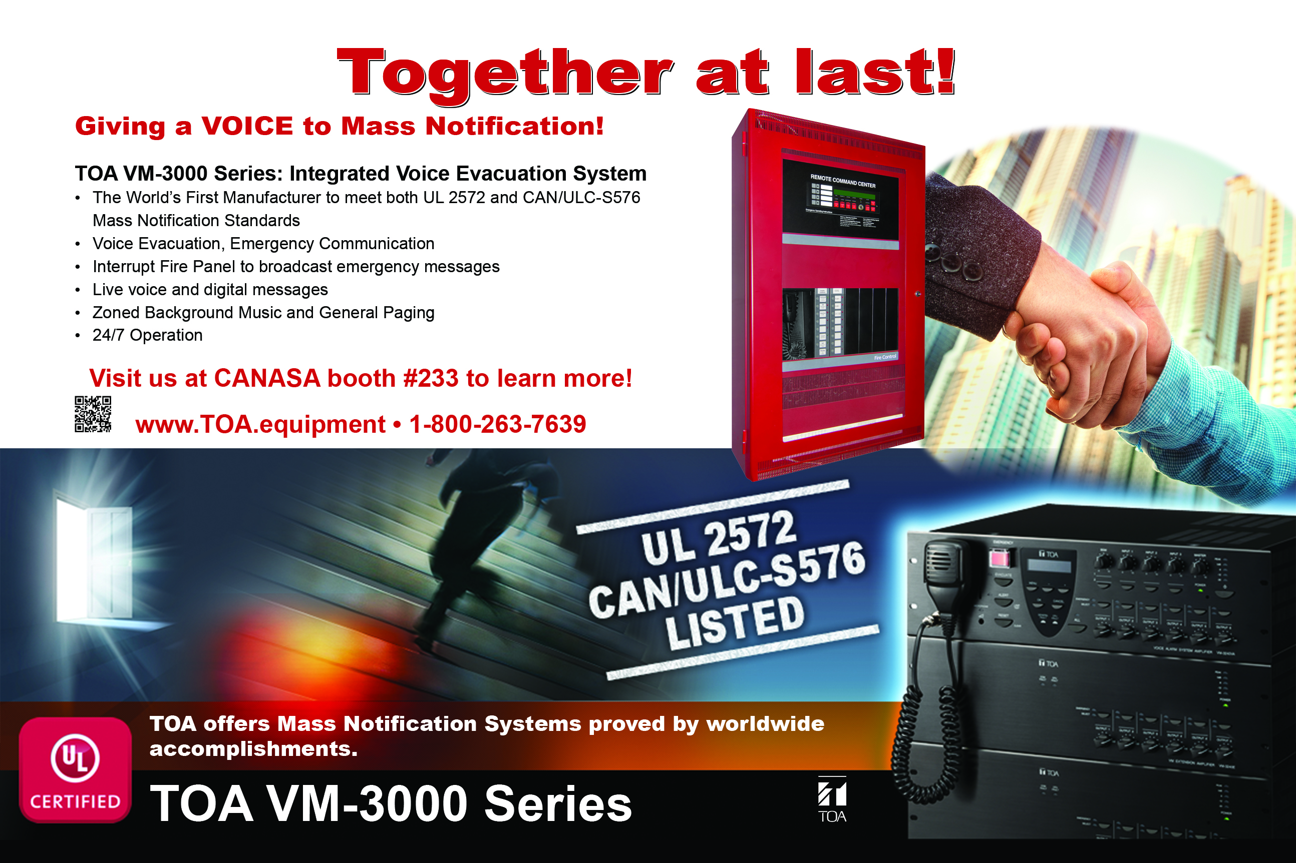 Toa Canada Voice Evacuation Amp Mass Notification Systems