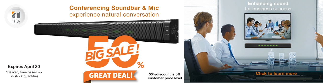 sound bar, microphone, TOA conference, boardroom, meeting, speaker, sound