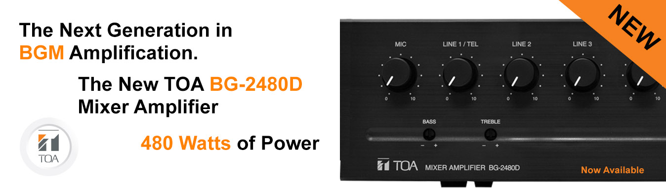 BG-2480D Mixer Amplifier, BG Series, TOA, Amplifier