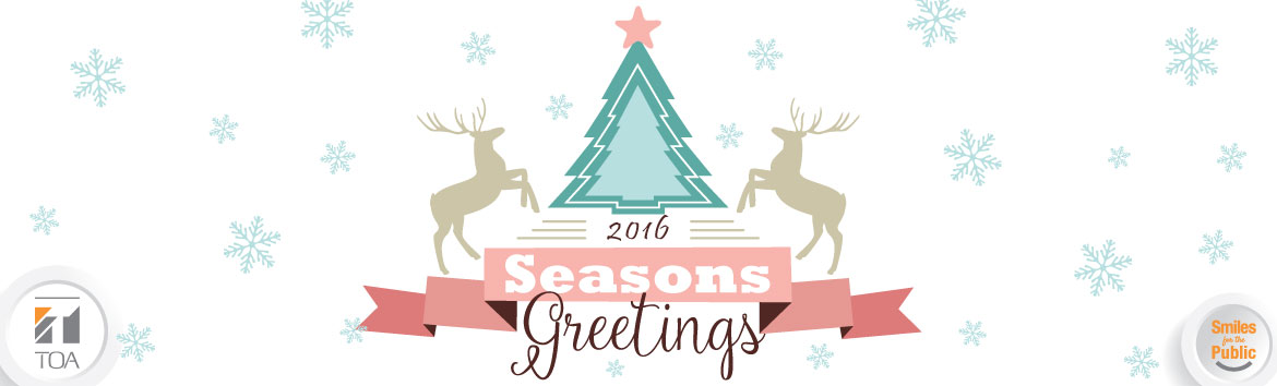 Season's Greetings from the Staff at TOA