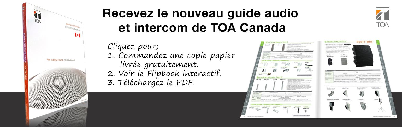 TOA Canada, produits, équipement, catalogue, 2020, guide des produits, haut-parleurs, catalogue, système de son, équipement de son, amplificateur, plafond