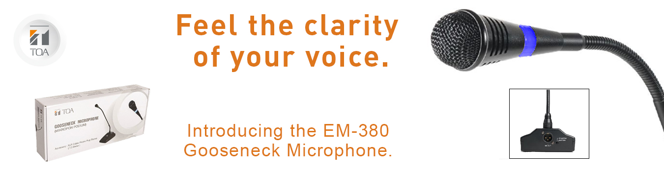 EM-380, microphone, gooseneck, TOA Canada, hall, conference, house of churches, health,