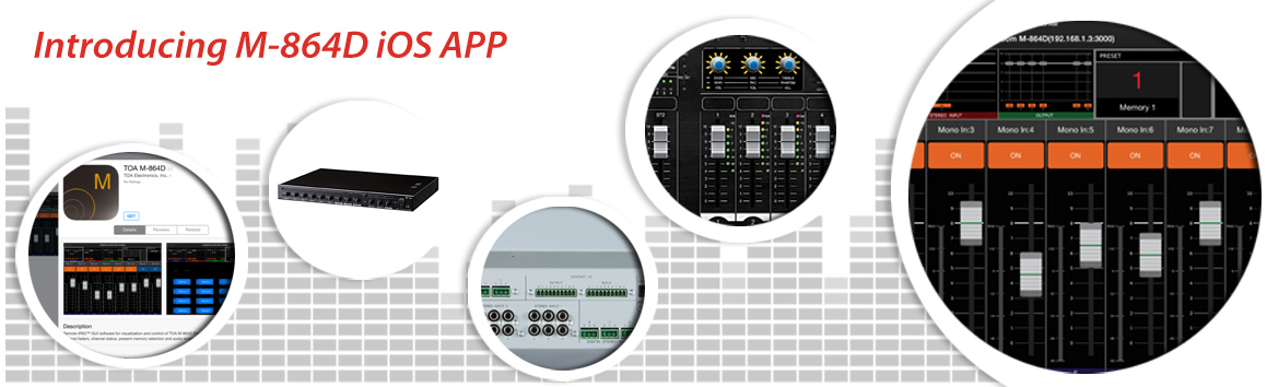iOS APP for M-864D Digital Stereo Mixer