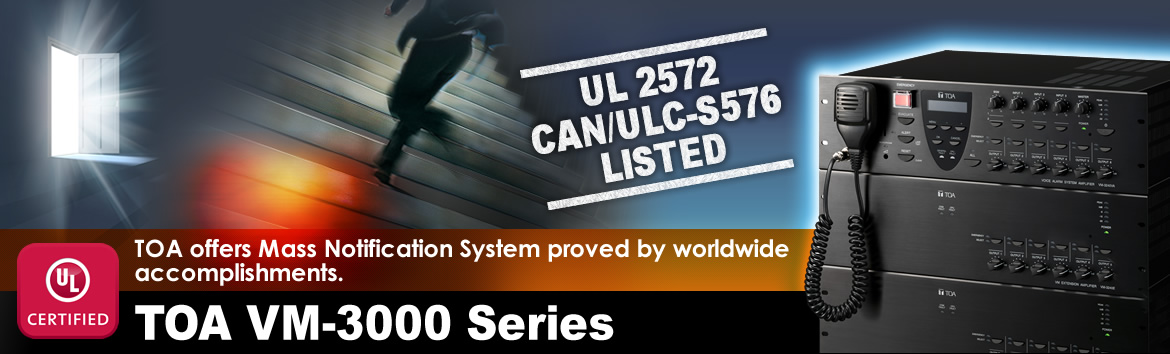The World's First Audio Manufacturer to Meet Both UL 2572 and CAN/ULC-S576 Mass Notification Standards
