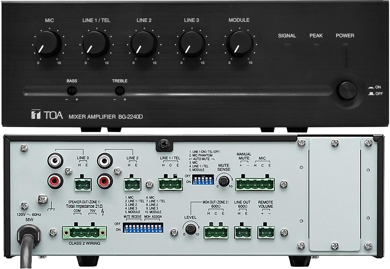 BG-2240D-AM Mixer Amplifier on
