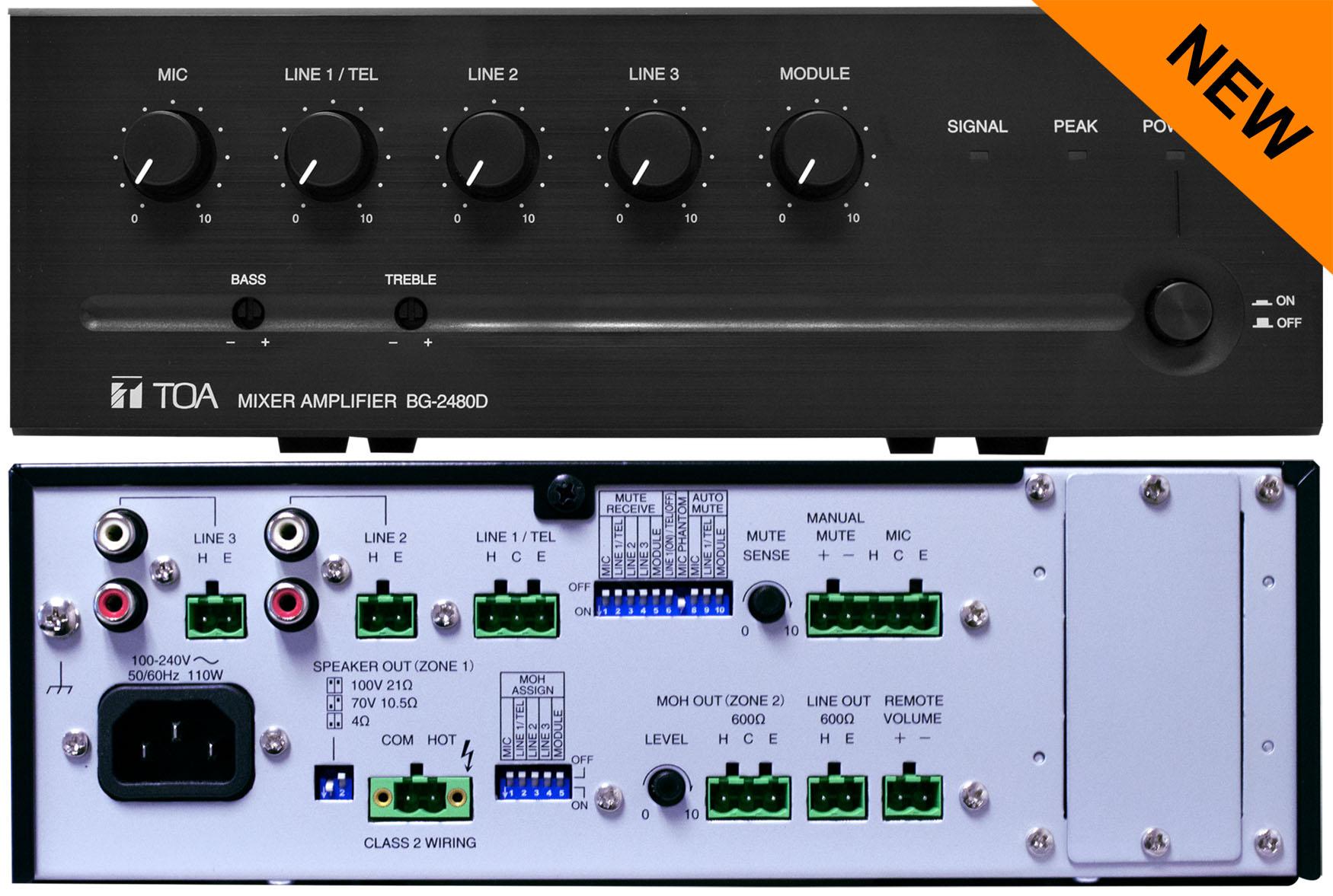 bg 2480d am mixer amplifier rh toacanada com Toa BG 1030 Toa Amplifier 900 Series Manual